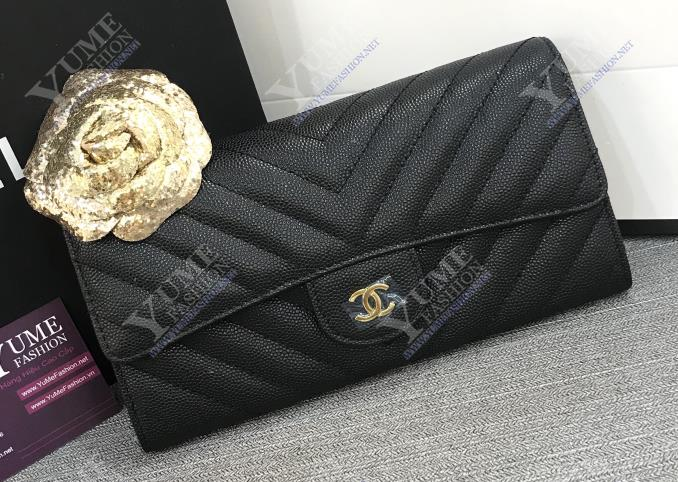 BÓP NỮ CHANEL Wallet Caviar Leather BNU1971 | 2.700.000 ₫