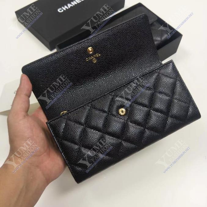 BÓP NỮ CHANELWallet Caviar LeatherBNU2083C Call